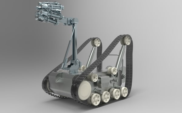 3ds military robot