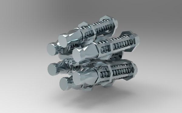 nozzle military 3d model