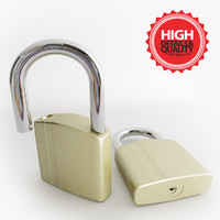 3d 3ds padlock lock cadenas