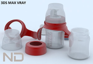 3ds max baby bottle