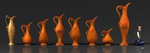 3d model cartoon fairy-tale vases
