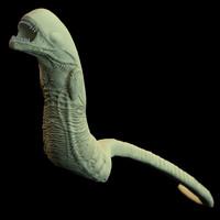 3d chestburster alien model