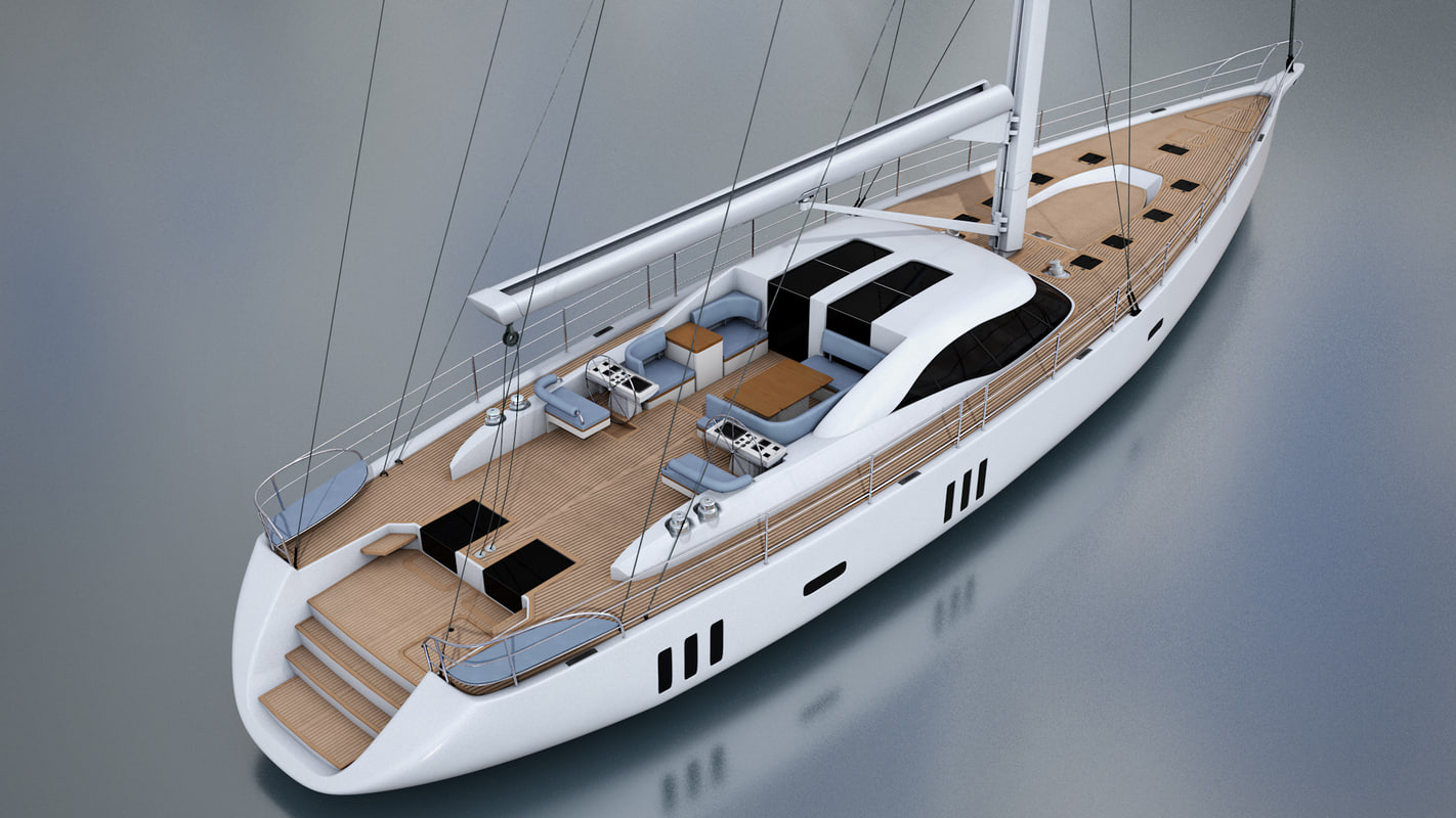 yacht oyster 885 obj