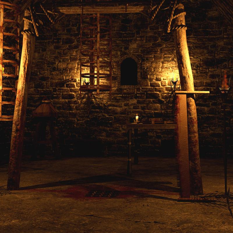 3d model medieval torture