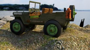 blender 1940s willy jeep