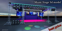stage musical concerts 3d model