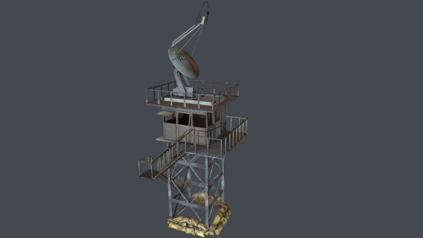 3d 3ds ready guard tower