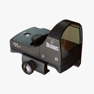 ready pistol sight 3d obj