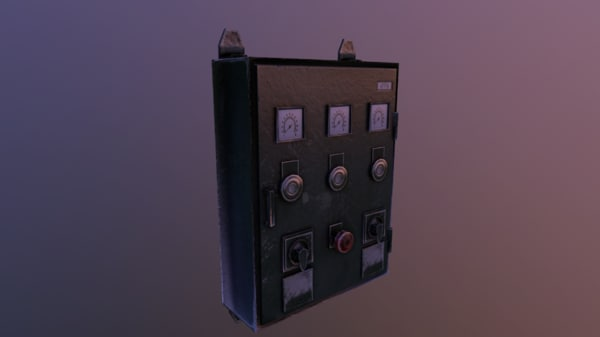 3d model fusebox gameready