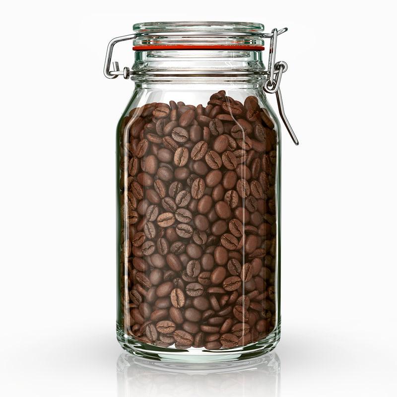 jar coffee beans