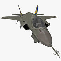 Fighter Aircraft Lockheed Martin F-35 Lightning II Dirty
