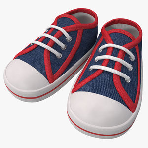3d model of kids sneakers