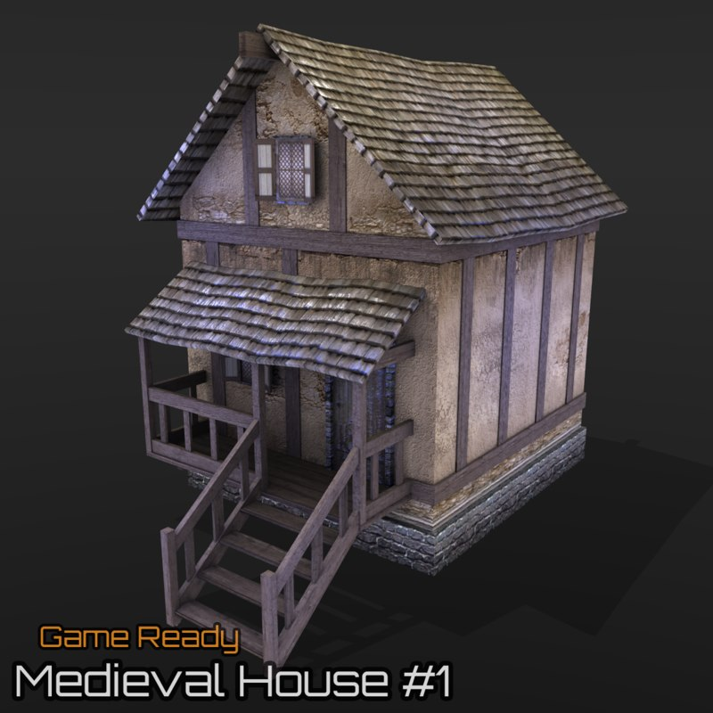 ready medieval house 3d 3ds