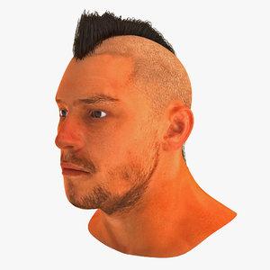 male head 21 3d model