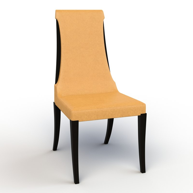 3d model of michael noji dining chair