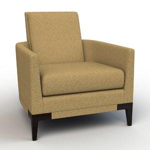 3d model rene lounge chair