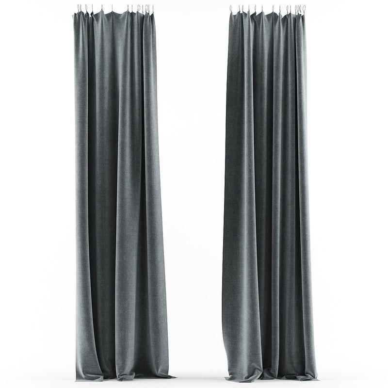 3d curtain green