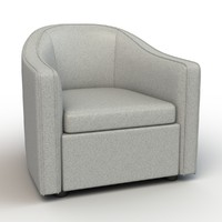 bright barrel lounge chair 3d model