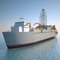 drilling ship 3d max