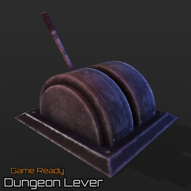 3d model ready dungeon lever