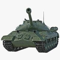 tank iosif stalin rigged 3d max