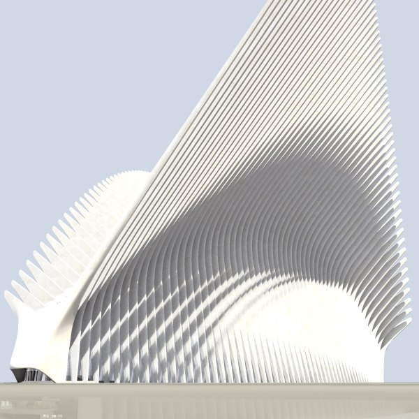 3d model new transportation hub world trade