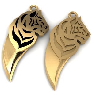 maya stl tooth tiger