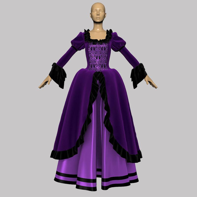 dress ball 3d model