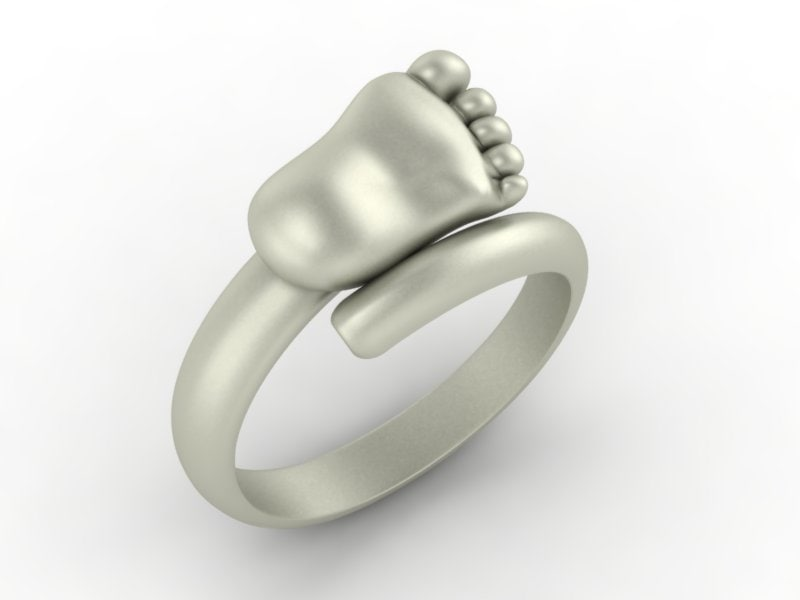 baby foot ring 3d 3ds