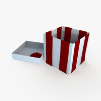 christmas gift present box dxf