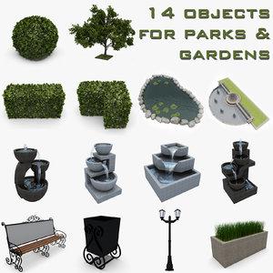 garden park 3d max