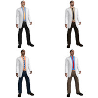 pack rigged doctor 3d model