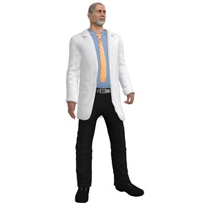 rigged doctor 3d model