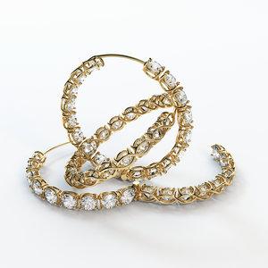 ear ring hoop 3d model
