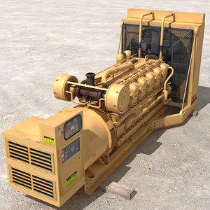 diesel generator 3d model