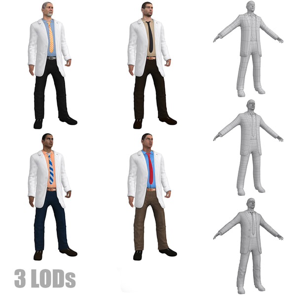 pack doctor rigged 3d max