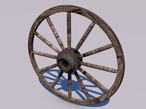 3d wheel old stagecoach