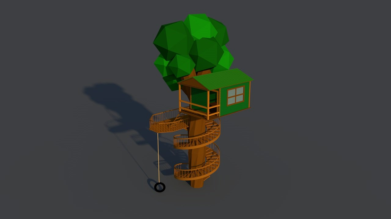 treehouse tree house 3d model