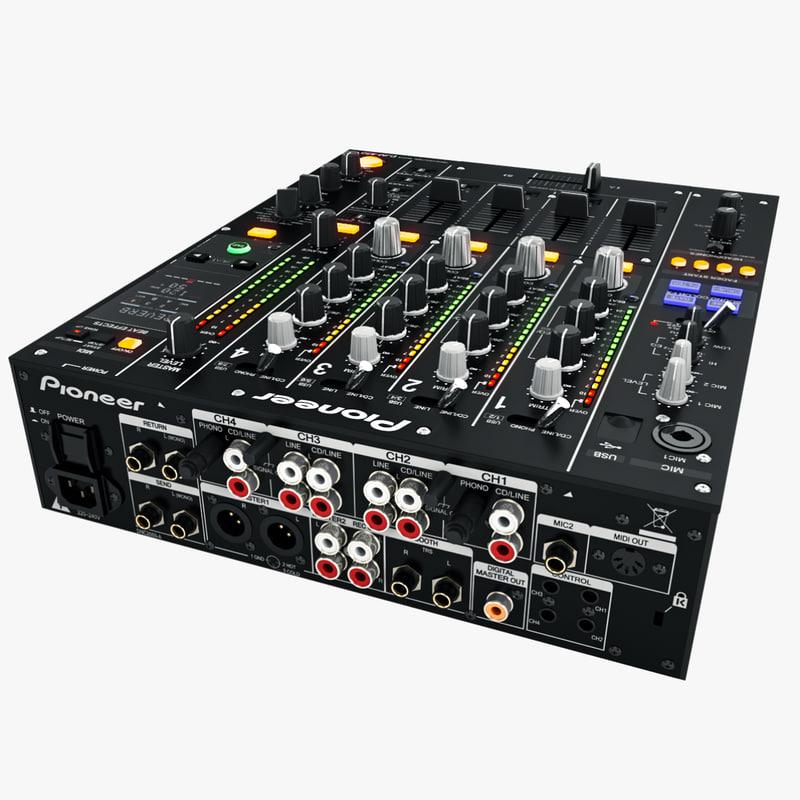 dj mixer pioneer djm-850 3d max