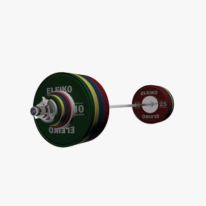 3d model of weightlifting competition set
