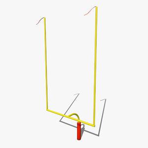 3d model of football goal post
