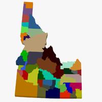 County Map - Idaho