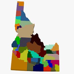 counties idaho 3d max