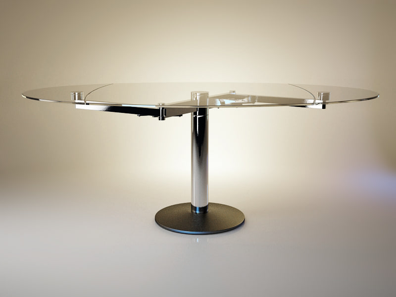 3d model titan table glass