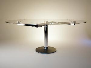 3d model titan table glass