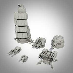 max sci-fi turrets collections