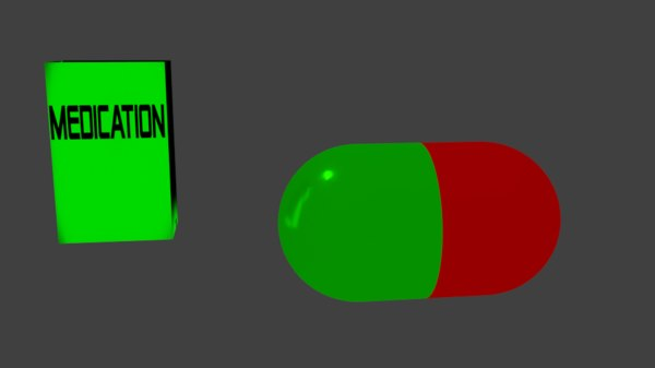 drug medication 3d 3ds