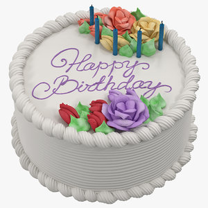 3d model of birthday cake 4