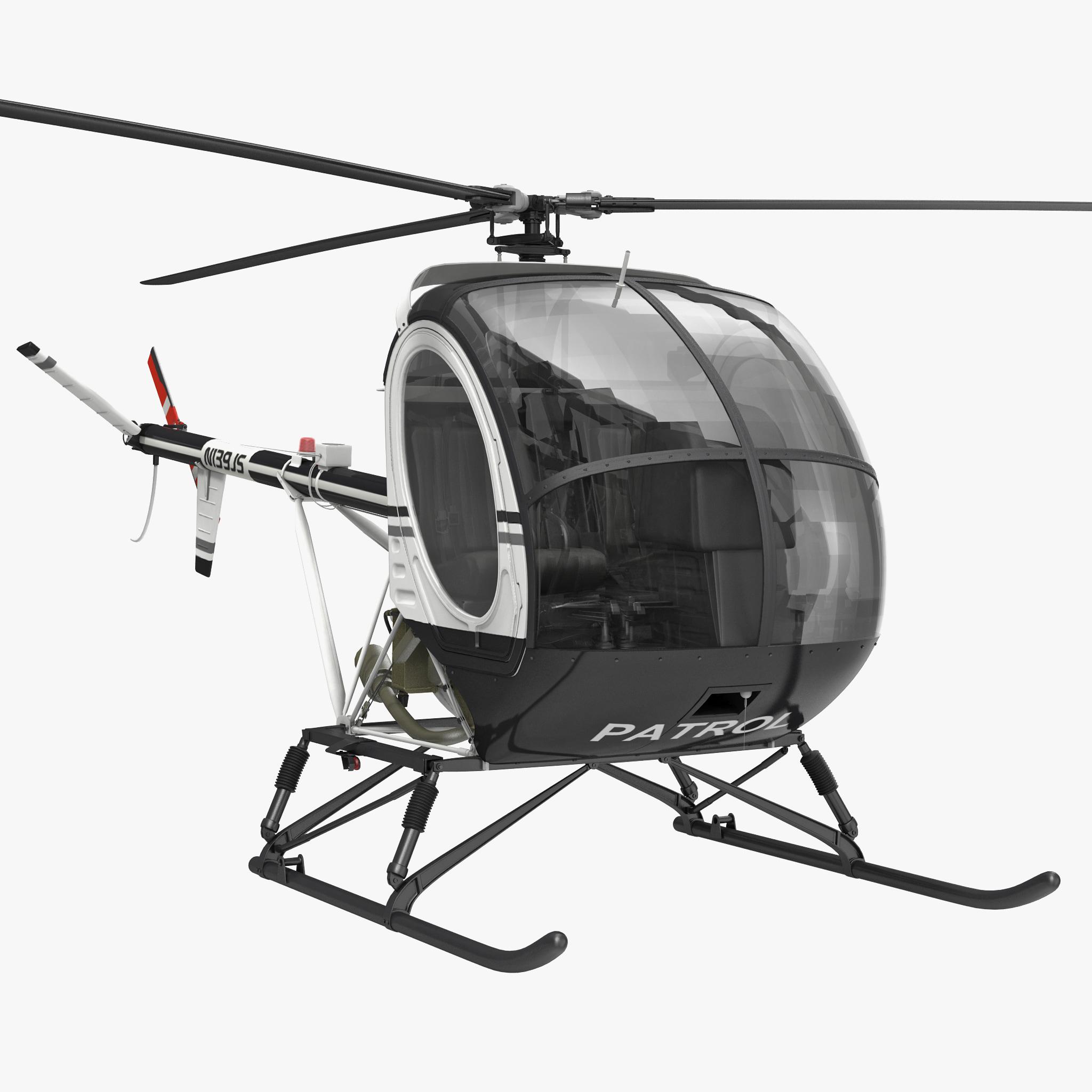 3d model helicopter schweizer 300cbi