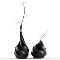 3d swirl vases model